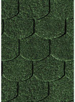 Karibu Dachschindeln Biberschwanz, dunkelgrün, 3 m²