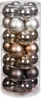 Weihnachtskugeln Urban Graphic-Mix 30mm, aus Glas