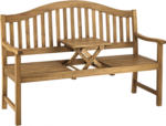 Gartenbank Gotland, 3-Sitzer, mit ausklappbarem Tisch