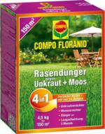 Compo FLORANID Rasendünger 4in1 mit Unkrautvernichter, 4,5 kg