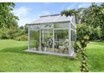 Gartenhaus Symi SL9, weiß, PC klar