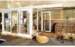 Nordic Terrassenüberdachung Sol 15000, PC Dach rechts, opal, weiß