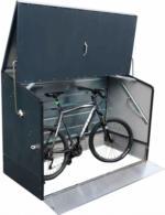 Tepro Fahrradbox anthrazit, mit klappbarer Rampe