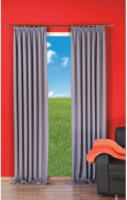 Vorhang Linus, Verdunkelungsqualität, ca. 140 x 245 cm, silber