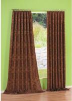 """Vorhang """"Tizian"""" mit Gardinenband, ca. 140 x 300 cm, braun"""