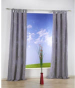 Vorhang Eighty, mit Schlaufen, ca. 140 x 235 cm, anthrazit