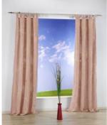 Vorhang Eighty, mit Schlaufen, ca. 140 x 235 cm, taupe