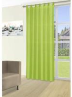 Vorhang Silk, mit Schlaufen, ca. 140 x 225 cm, grün