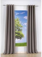 Vorhang Uni, mit Ösen, aus Baumwolle, ca. 140 x 240 cm, grau