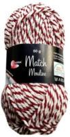 Wolle Match-Moulinè, rot-weiss