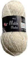 Wolle Match-Moulinè, beige-weiss