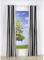 Vorhang Streifen, mit Ösen, aus Baumwolle, ca. 140 x 240 cm, dunkelbraun