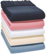MERADISO® Jersey-Spannbettlaken, 180 - 200 x 200 cm