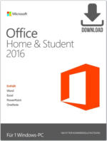 Microsoft Office 2016 Home & Student ESD, Download Software inkl. Lizenz