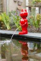 Ubbink Wasserspeier Boy Teufel, klein, rot