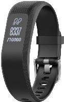 Smartwatches - Garmin vivosmart 3 S-M Fitness-Tracker Silikon, mit Metallverschluß, 122 - 189 mm, Schwarz