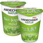Andechser Natur Bio-Jogurt, mild 0,1/1,8/3,8 % Fett, jeder 500-g-Becher