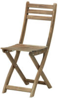 ASKHOLMEN Stuhl/außen, graubraun faltbar graubraun lasiert