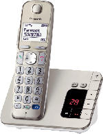 Panasonic KX-TGE 220 GN SINGLE schnurloses DECT Telefon mit Anrufbeantworter