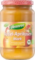 Dennree Apfel-Aprikosenmark 360g Glas