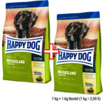 Happy Dog, 1 kg Happy Dog Supreme Sensible (versch. Sorten) + 1 kg gratis