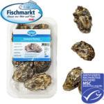 Felsenaustern mit Setzlingen aus einer MSC-zertifizierten Fischerei, Aquakultur, Niederlande,   jede 6er-Schale