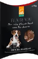 Snack für Hunde, BARVA Bio-Rindfleisch