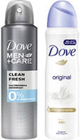 Dove Deo Spray oder Roll on versch. Sorten, jede 150/75-ml-Dose/jeder 50-ml-Roll on