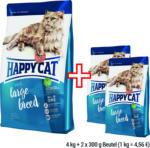 HAPPY CAT Supreme Large Breed,  4 kg Beutel + 2 x 300 g gratis