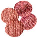 Frische Rinderburger oder Hacksteaks aus Rind- und Schweinefleisch, je 100 g