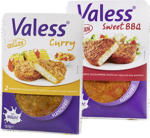 Valess Sweet BBQ oder Curry fleischfreie Filets, mariniert,  ideal zum Grillen, jede 2 x 75 g = 150-g-SB-Packung