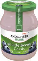 "Fruchtjoghurt ""Heidelbeere-Cassis"""