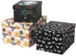 STUNSIG Kasten mit Deckel 3er-Set, Vogelbiene, Mangaauge Außerirdischer