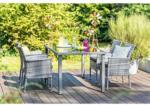 Haveson Gartenmöbel-Set Menorca I inkl. Kissen, Tisch 160 cm, grau meliert