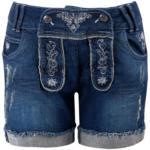Damen- Trachten-Jeansshorts