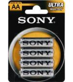 Sony Batterie AA-R6 Zink-Kohle Mignon, 4er Pack