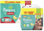 Pampers Windeln baby-dry, active-fit oder pants,  jede Jumbo+ Packung