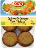 """Veganes Fingerfood """"deluxe Quinoa-Grünkern-Taler"""""""