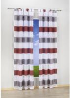 Kombi-Dekoschal Mia, grau-rot, ca. 140 x 245 cm