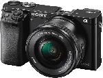 Systemkameras - Sony Alpha 6000 (ILCE-6000LB) Systemkamera 24.3 Megapixel mit Objektiv 16-50 mm f/5.6, 7.5 cm Display , WLAN