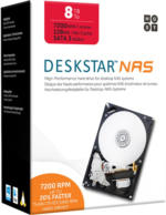 "8TB HGST Deskstar NAS 3.5"" Festplatte 7200RPM, 6GB/s, 128MB Cache"