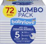 Windeln Premium aktiv plus Größe 5, junior 12-25kg, Jumbo Pack, 2x36 Stück