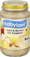 babylove Frucht & Getreide Apfel & Banane mit Zwieback ab dem 6. Monat