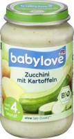 babylove Gemüse Zucchini mit Kartoffeln nach dem 4. Monat