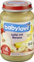 babylove Früchte Apfel mit Banane nach dem 4. Monat