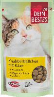 Snack für Katzen, Knabberbällchen mit Käse