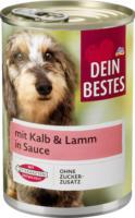 Nassfutter für Hunde, mit Kalb & Lamm, in Sauce