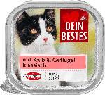 Nassfutter für Katzen mit Kalb & Geflügel, klassisch