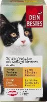 Dein Bestes Nassfutter für Katzen, Vorteilspack Schalen klassisch mit Geflügel, 8 x 100g