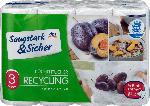 Saugstark&Sicher Recycling Küchentücher, 8x102 Halb-Blatt (8x51 Blatt)
